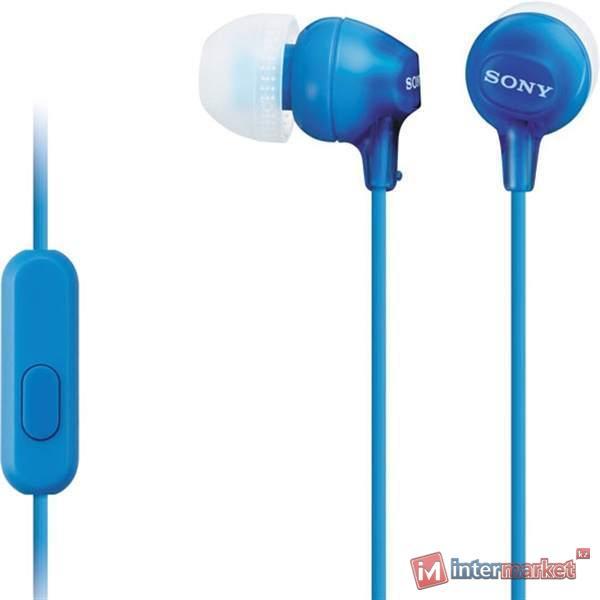 Наушники Вставные Sony MDR-EX15AP, Blue